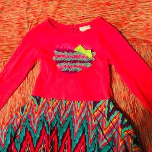 Youngland Pink Dress with print Size 5